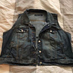 Maurices plus size Jean vest